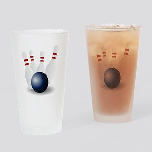 Bowling Ball and Pins Drinking Glass
