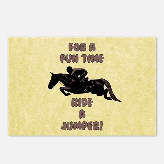 For a Fun Time, Ride A J Postcards (Package of 8)