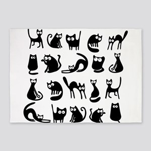 Funny cats 5'x7'Area Rug