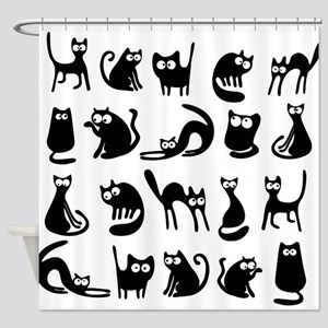 Funny cats Shower Curtain