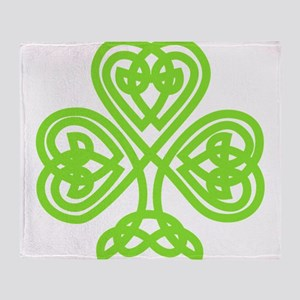 Cute Celtic clover Throw Blanket