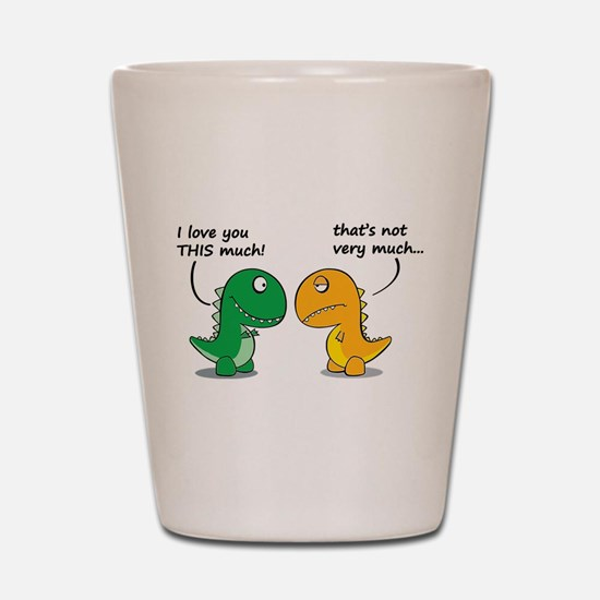 Cute Dinosaurs Shot Glass