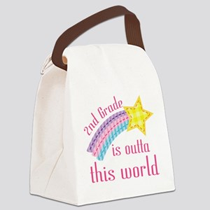 2nd Grade Outta This World Canvas Lunch Bag