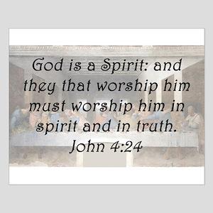 John 4:24 Posters