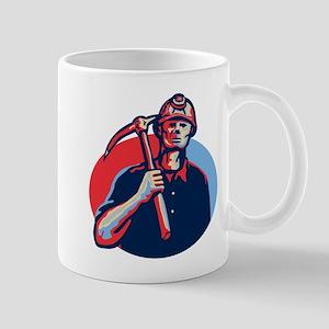 Coal Miner Pick Axe Retro Mug
