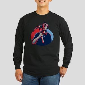 Coal Miner Pick Axe Retro Long Sleeve T-Shirt