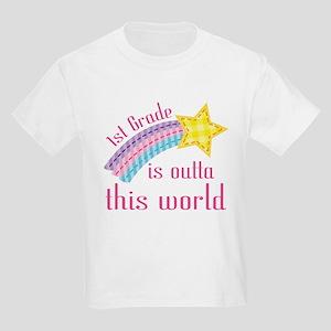 1st Grade Is Outta This World Kids Light T-Shirt