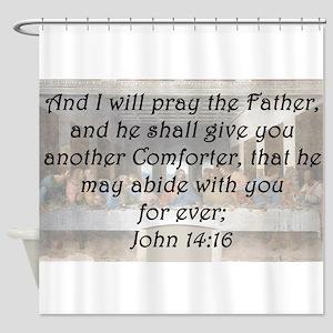 John 14:16 Shower Curtain