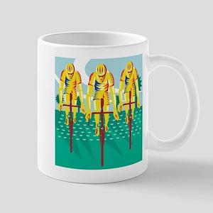 Cyclist Riding Bicycle Cycling Retro Mug