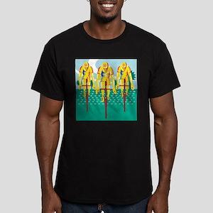 Cyclist Riding Bicycle Cycling Retro T-Shirt