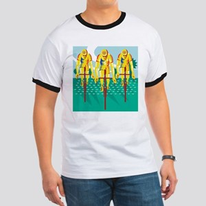 Cyclist Riding Bicycle Cycling Retro T-Shirt