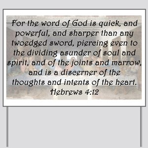 Hebrews 4:12 Yard Sign