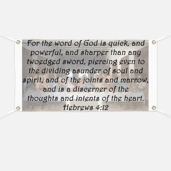 Hebrews 4:12 Banner