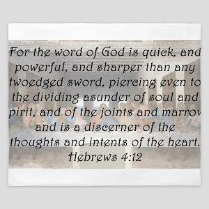 Hebrews 4:12 King Duvet