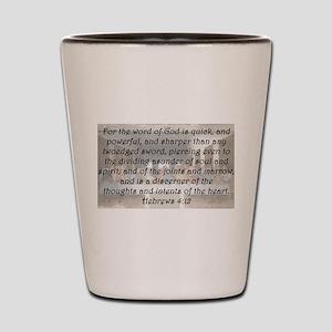 Hebrews 4:12 Shot Glass