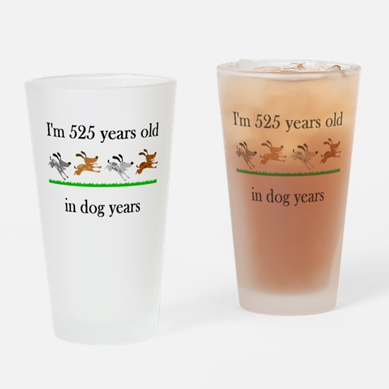 75 dog years birthday 1 Drinking Glass