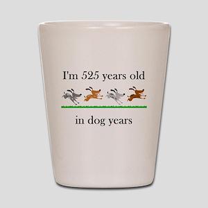75 dog years birthday 1 Shot Glass