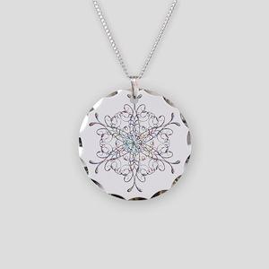 Iridescent Snowflake Necklace