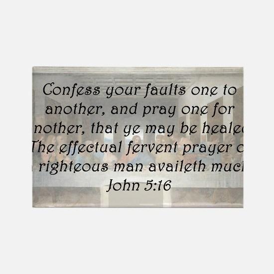 John 5:16 Rectangle Magnet