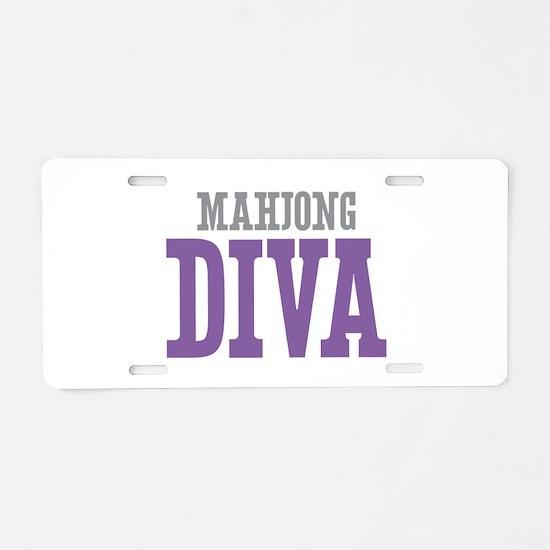 Mahjong DIVA Aluminum License Plate