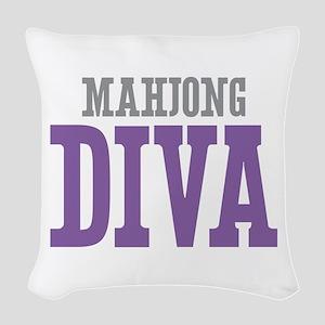 Mahjong DIVA Woven Throw Pillow