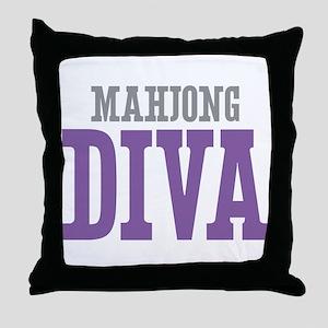 Mahjong DIVA Throw Pillow