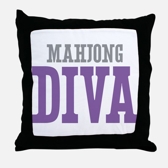 Mahjong DIVA Throw Pillow