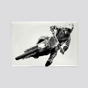 Grooving it on a dirt bike Rectangle Magnet