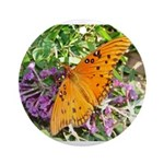 Beautiful Butterfly Ornament (Round)