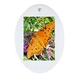 Beautiful Butterfly Oval Ornament