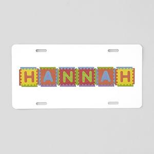 Hannah Foam Squares Aluminum License Plate