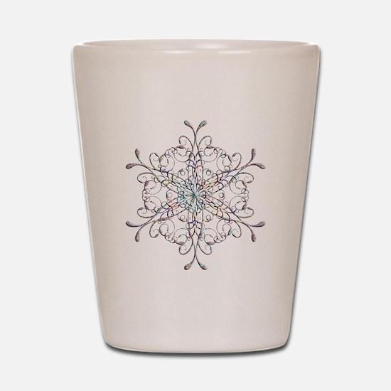 Iridescent Snowflake Shot Glass