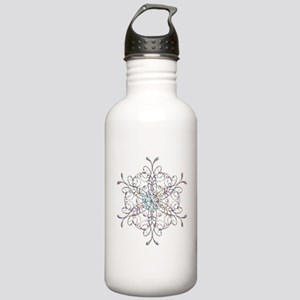 Iridescent Snowflake Water Bottle