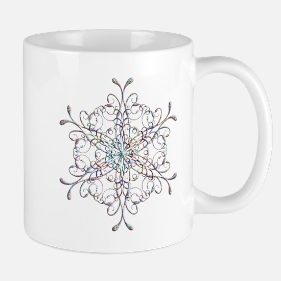 Iridescent Snowflake Mug