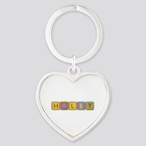 Haley Foam Squares Heart Keychain