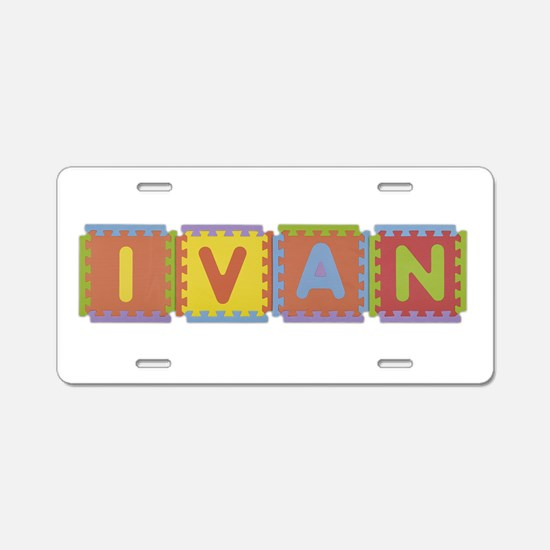 Ivan Foam Squares Aluminum License Plate