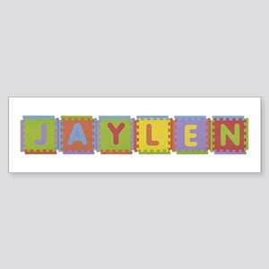 Jaylen Foam Squares Bumper Sticker