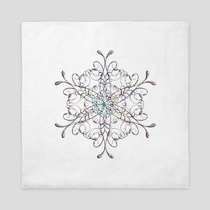 Iridescent Snowflake Queen Duvet