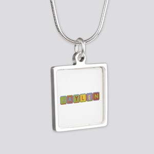 Jaylen Foam Squares Silver Square Necklace