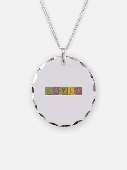 Kayla Foam Squares Necklace