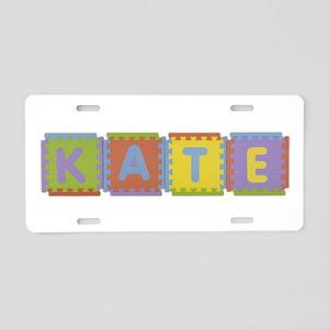 Kate Foam Squares Aluminum License Plate