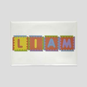 Liam Foam Squares Rectangle Magnet