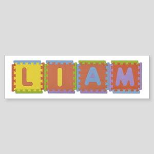 Liam Foam Squares Bumper Sticker