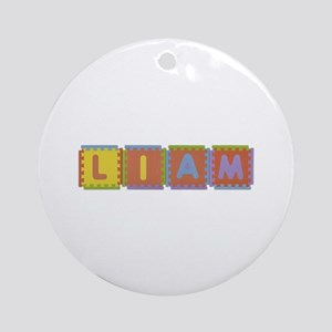 Liam Foam Squares Round Ornament