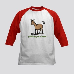 Buy me a horse saying Kids Baseball Jersey