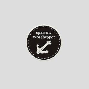 Sparrow Worshipper (circular) Mini Button