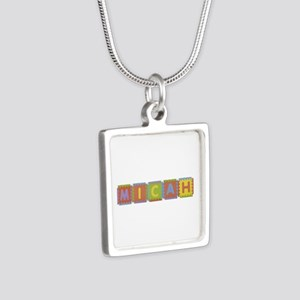 Micah Foam Squares Silver Square Necklace