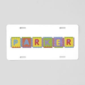 Parker Foam Squares Aluminum License Plate
