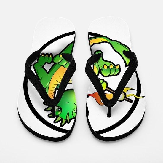 Cute Dragon Flip Flops