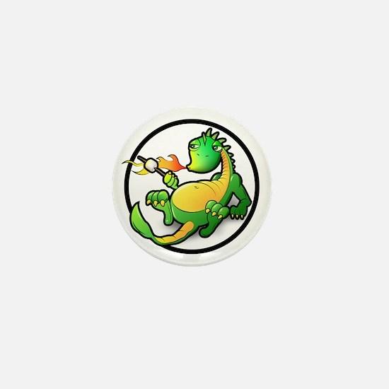Cute Dragon Mini Button